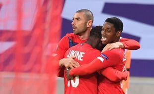 La joie des Lillois qualifiés pour les seizièmes de finale de la Ligue Europa