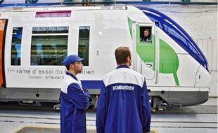 A Crespin, Bombardier fabrique notamment les rames du RER «Transilien».