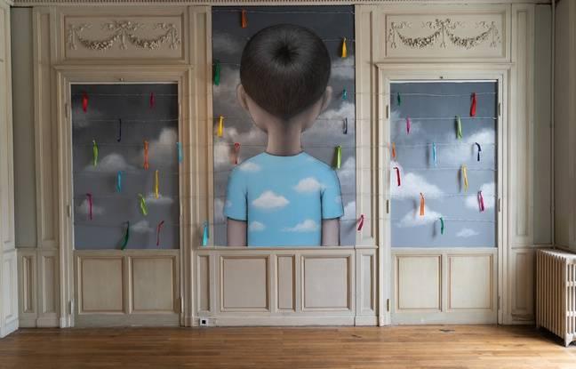 Seth a créé plusieurs oeuvres in situ au sein du château Labottière pour son exposition «1,2,3 Soleil»