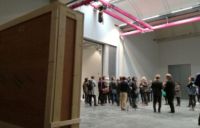 Une des réserves du centre de conservation du Louvre, à Liévin, dans le Pas-de-Calais, laquelle accueillera des œuvres à partir du 28 octobre 2019.