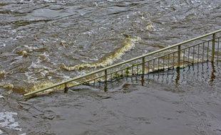 Une rivière en crue (photo d'illustration).