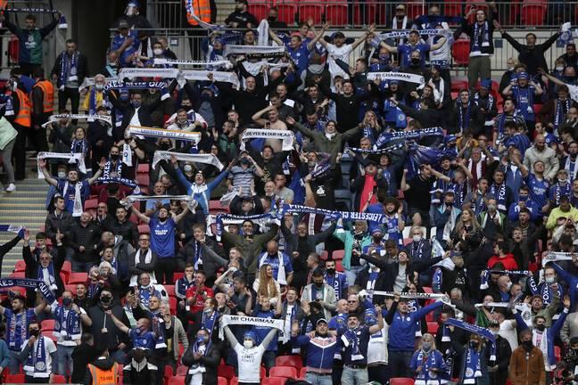 Les supporters de Leicester lors de la finale.