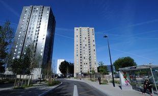 Immeubles situes dans le quartier Malakoff a Nantes.