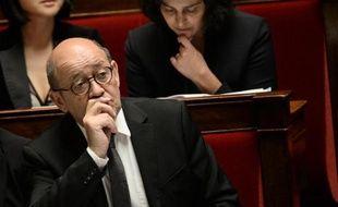 Le ministre français de la Défense, Jean-Yves Le Drian, le 21 janvier 2015 à l'Assemblée nationale, à Paris