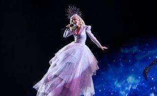 La chanteuse australienne Kate Miller-Heidke lors de sa première répétition sur la scène de l'Eurovision, le 4 mai 2019.