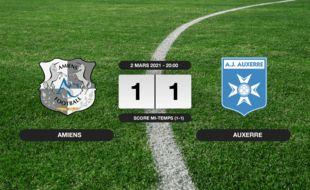 Ligue 2, 28ème journée: Amiens et Auxerre se quittent sur un nul (1-1)
