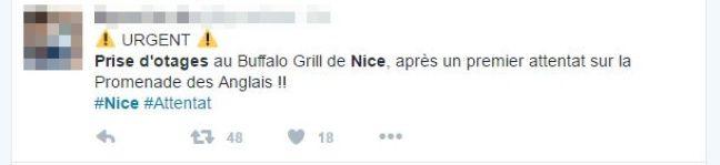 Capture d'écran d'un tweet du 14 juillet 2016.