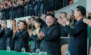 La première dame de Corée du Nord et son mari Kim Il-Sung, le 13 avril 2015.