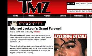 Les informations exclusives de TMZ ont fait son succès.