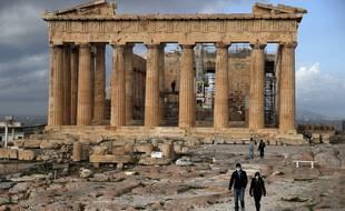 Le site de l'Acropole à Athènes, le 22 mars 2021.