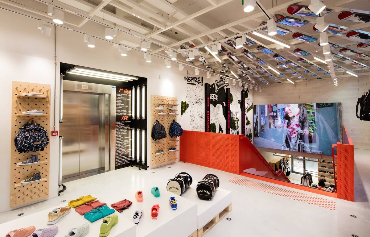 le premier étage du magasin Citadium à Bordeaux – E.BOUGOT