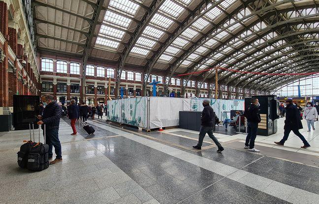 Le point accueil de la gare de Lille Flandres a disparu.