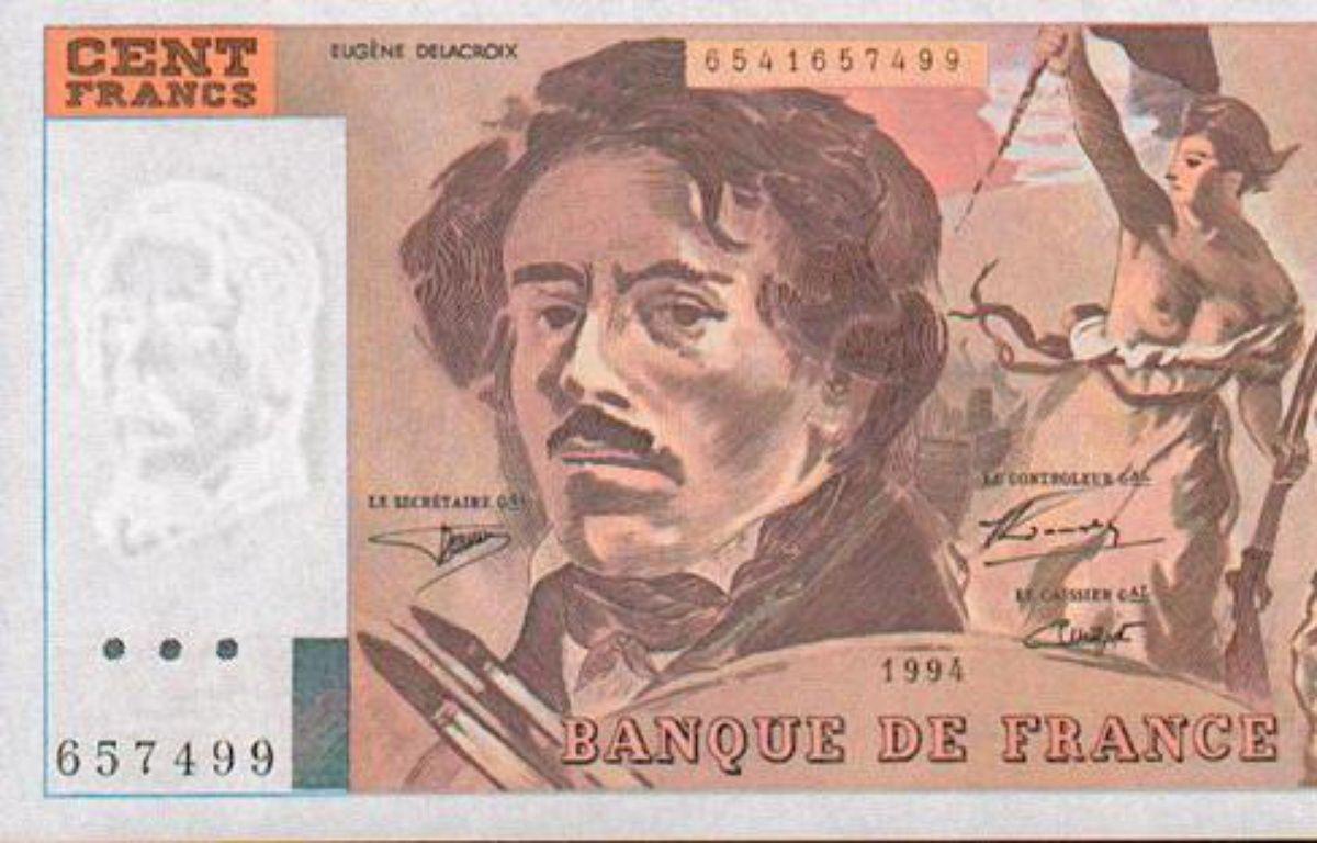 Un billet de 100 francs à l'effigie d'Eugène Delacroix. – DR