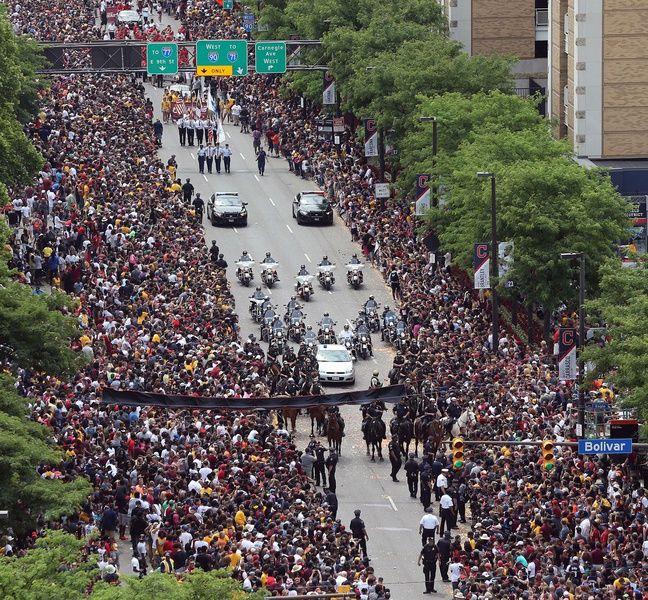 La foule à Cleveland