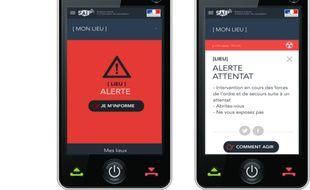 Capture d'écran application SAIP du ministère de l'Intérieur