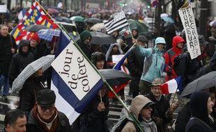 """La manifestation du collectif """"Jour de colère"""", le 26 janvier 2014 à Paris."""