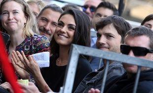 Les acteurs Mila Kunis et Ashton Kutcher