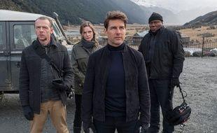 Simon Pegg, Rebecca Ferguson, Tom Cruise et Ving Rhames dans Mission: Impossible - Fallout de Christopher McQuarrie