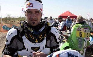 Le pilote français Cyril Despres (KTM), lors de la 2e étape duDakar, le 2 janvier 2012, à Santa Rosa (Argentine).