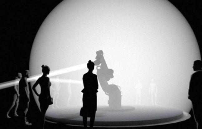 Place Gabriel Rambaud, les visiteurs pourront animer un robot, enfermé sous un dôme transparent.