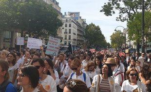 Près de 20 000 manifestants issus de 14 professions libérales ont manifesté ce lundi 16 septembre contre la réforme des retraites.