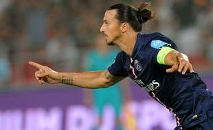 Zlatan Ibrahimovic contre Guingamp le 2 août 2014.