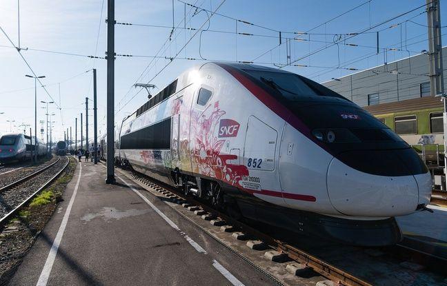 Le nouveau TGV Oceane, le 7 décembre 2016 à Bordeaux