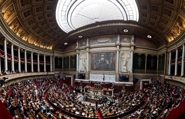Vue générale de la première séance des Questions au Gouvernement de la nouvelle Assemblée, au Palais Bourbon, à Paris, le 5 Juillet 2017.