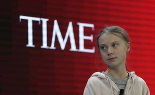 Greta Thunberg, lors d'une table ronde au forum économique mondial à Davos, le 21 janvier.