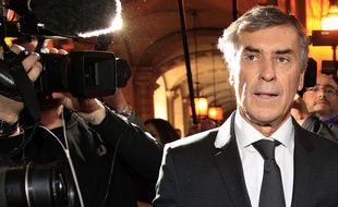 L'ancien ministre Jérôme Cahuzac à son arrivée au Palais de justice de Paris au premier jour de son procès pour fraude fiscale le 8 février 2016.
