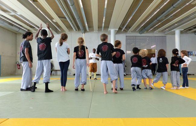 Les kung-fu kids participent au stage de Dominique Saatenang à Paris 18e. Le 31 août 2018.