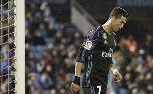 Cristiano Ronaldo lors du quart de finale retour de Coupe du Roi contre le Celta Vigo le 25 janvier 2017.