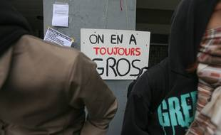 Des étudiants mobilisés contre la loi Ore et la réforme Parcoursup à Strasbourg. Illustration