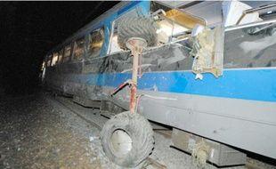 Treize personnes ontété blessées, dont une très grièvement, vendredi soir.