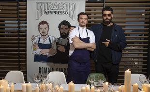 Bertrand Grébaut et Romain Gavras au dîner des Entractes Nespresso