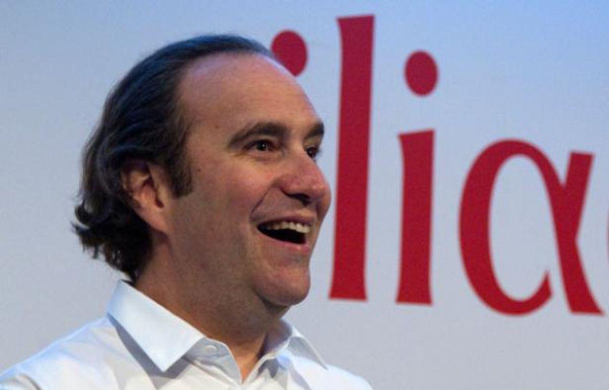 Xavier Niel avant la conférence de presse de présentation des résultats annuels d'Iliad, le 8 mars 2012 à Paris. – Charles Platiau / Reuters