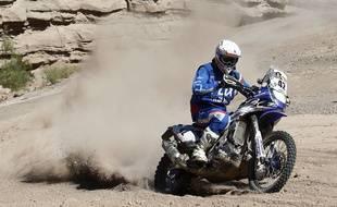 Le pilote nordiste Adrien van Beveren (Yamaha) lors du rallye Dakar 2016.