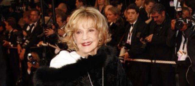 La comédienne Jeanne Moreau au Festival de Cannes.