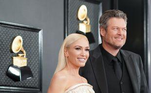 Les chanteurs Gwen Stefani et Blake Shelton