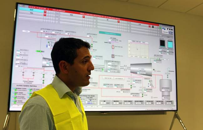Rachid Bayed, responsable de la réalisation chez Masen, à la centrale de Noor, le 12 octobre 2016.