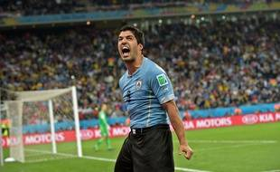 Luis Suarez, auteur d'un doublé le 19 juin 2014 contre l'Angleterre.