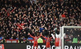 Les supporters du Stade Rennais lors de la victoire face à Lille le 21 octobre 2017, au Roazhon Park, à Rennes