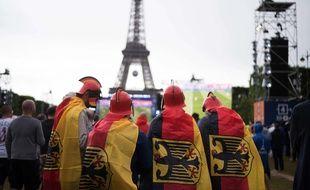 Fan zone du Champ-de-Mars, le 16 juin 2016.
