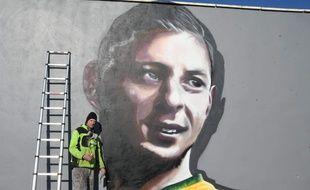 La fresque d'Emiliano Sala, réalisée au Poretl par l'artiste Kmu.