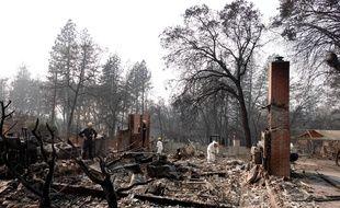 La ville de Paradise en Californie a été ravagée par les flammes, le 18 novembre 2018.