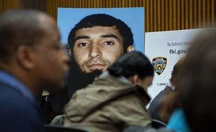 Une photo de Sayfullo Saipov montrée lors d'une conférence de presse de la police new-yorkaise, le 1er novembre 2017.