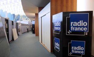 Dans les couloirs de Radio France, le 3 avril 2015