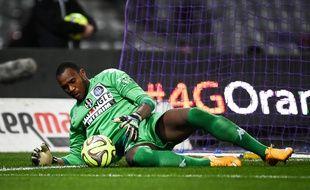 Le gardien du TFC Ali Ahamada lors du match de Ligue 1 contre Guingamp, le 20 décembre 2014 au Stadium de Toulouse.