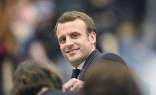 Emmanuel Macron lors d'un débat consacré à la situation sociale des femmes, le 28 février 2019.