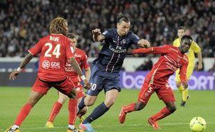 L'attaquant du PSG Zlatan Ibrahimovic lors du match contre Valenciennes le dimanche 5 mai 2013.